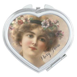 Ihr reizendes romantisches Vintages Schminkspiegel