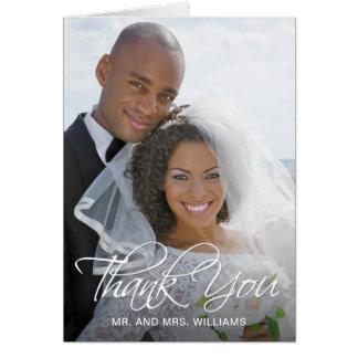 Ihr spezielles Hochzeits-Foto danken Ihnen Karte