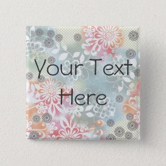 Ihr Text hier 2 Zoll-quadratischer Knopf Quadratischer Button 5,1 Cm