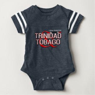 (Ihr Text) Trinidad und Tobago Baby Strampler