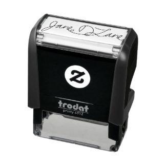 Ihr Unterschriften-Selbst, der Briefmarken mit Permastempel