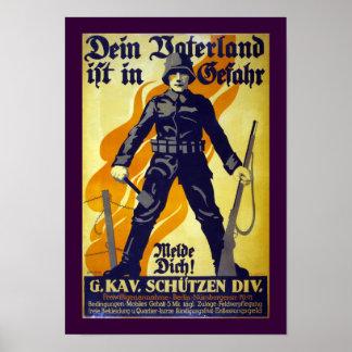 Ihr Vaterland ist in der Gefahr (Grenze) Poster