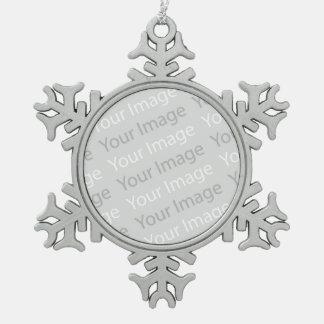 Ihre Bild-Zinn-Schneeflocke-Verzierung Schneeflocken Zinn-Ornament