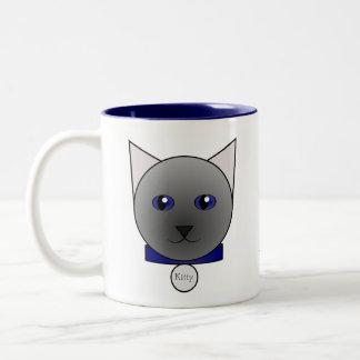 Ihre Cartoon-blaue siamesische Katzen-Tasse Zweifarbige Tasse