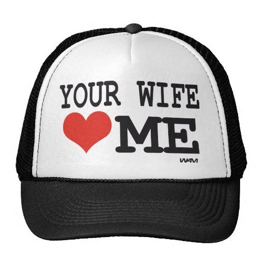 Ihre Ehefrau-Lieben ich Trucker Mützen