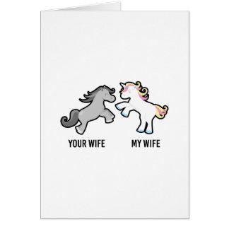 Ihre Ehefrau mein EhefrauUnicorn Karte
