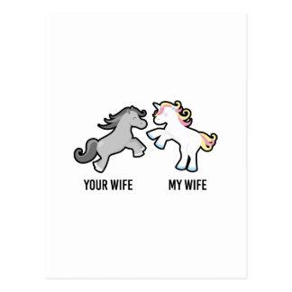 Ihre Ehefrau mein EhefrauUnicorn Postkarte