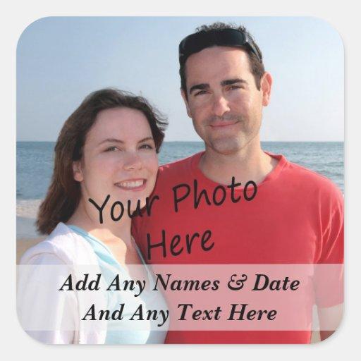 Ihre eigenen Foto-und Gewohnheits-Text-Aufkleber