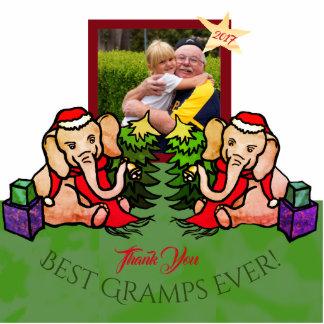 Ihre Foto besten Gramps Weihnachtselefanten Fotoskulptur Magnet