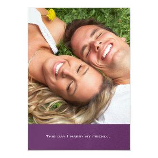 Ihre Foto-Hochzeits-Einladung heirate ich meinen Karte