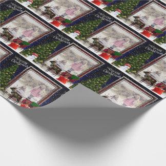 Ihre Foto Weihnachtsfeld-Szene Geschenkpapier