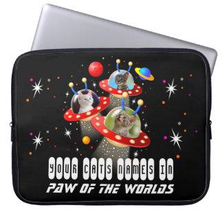 Ihre Katzen in einem alien-Raumschiff UFO Sci Laptop Sleeve