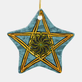 Ihre kundenspezifische Stern-Verzierung Keramik Ornament