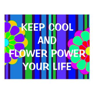 Ihre lustigen Sprüche: behalten Sie cooler und Postkarte