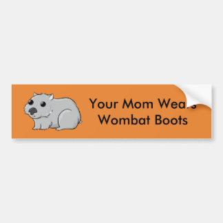 Ihre Mamma trägt Wombat Stiefel Autoaufkleber