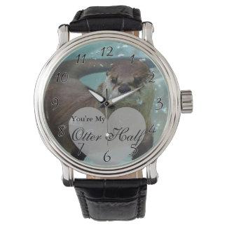 Ihre meine Otter-halbe Brown-Fluss-Otter-Schwimmen Armbanduhr