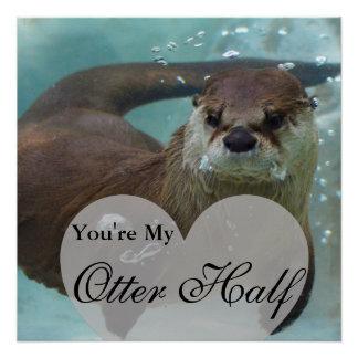 Ihre meine Otter-halbe Brown-Fluss-Otter-Schwimmen Poster