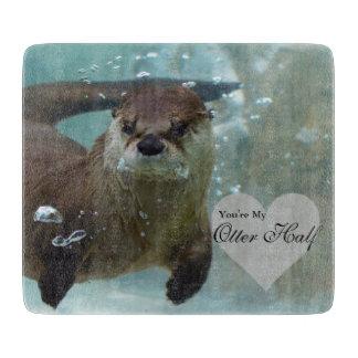 Ihre meine Otter-halbe Brown-Fluss-Otter-Schwimmen Schneidebrett