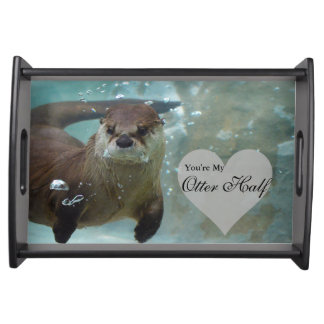 Ihre meine Otter-halbe Brown-Fluss-Otter-Schwimmen Tablett