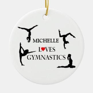 """IHRE NAMENS"" Liebe-Gymnastik Keramik Ornament"