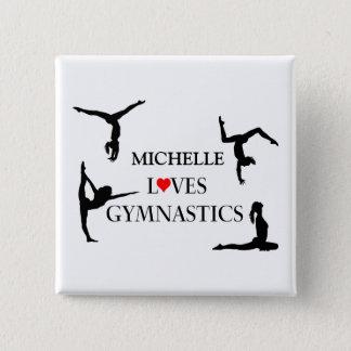 """""""IHRE NAMENS"""" Liebe-Gymnastik Quadratischer Button 5,1 Cm"""