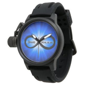 Ihre Namens  Unendlichkeits-Aussenseiter-Geschenke Uhr