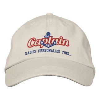 Ihre NamensKapitän zur See-Seeanker-Stickerei Bestickte Baseballkappe