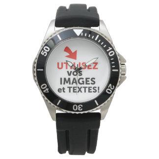 Ihre online Designs DIY auf französisch drucken Armbanduhr