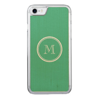 Ihre tadellose grüne zuerstobere Grenze gefärbt Carved iPhone 8/7 Hülle