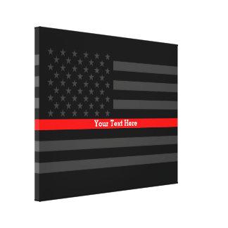Ihre Text-dünne rote Linie stilvolle Schwarzes Leinwanddruck