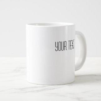 Ihre Text-weiße Keramik-riesige Tassen-Schablone Jumbo-Tasse