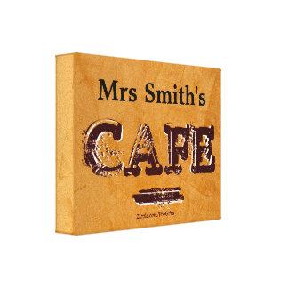 Ihre Vintagen Café-Leinwand-Namensdrucke Leinwanddruck