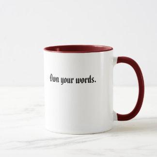 Ihre Wörter besitzen Tasse