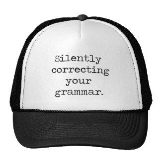 Ihren Grammatik-Hut still korrigieren Mützen