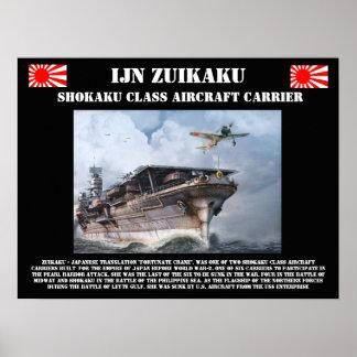IJN Zuikiaku Flugzeugträger-Plakat Poster