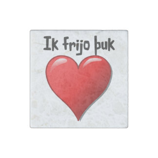 Ik frijo þuk - i-Liebe Sie in gotischem Stein-Magnet