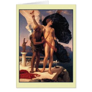 Ikarus und Daedalus durch Frederick Leighton Grußkarte