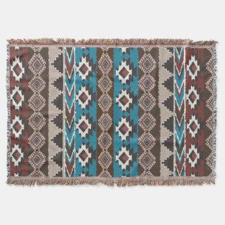 Ikat, Azteke, ethnisches Muster Decke