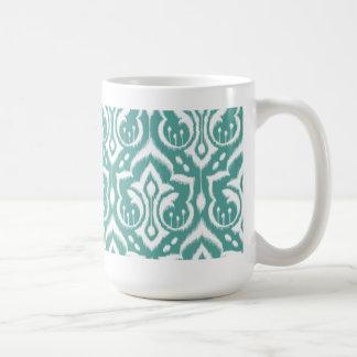 Ikat Damast - aquamarin Kaffeetasse