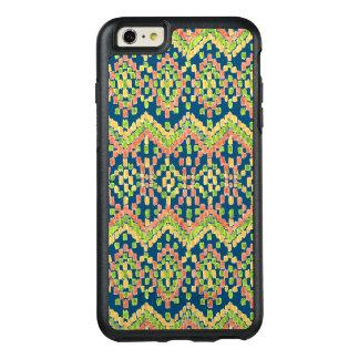 Ikat ethnisches maurisches Muster auf Blau OtterBox iPhone 6/6s Plus Hülle
