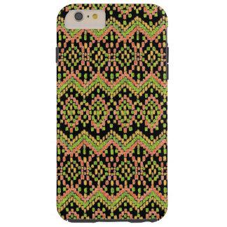 Ikat ethnisches Muster auf besonders anzufertigen Tough iPhone 6 Plus Hülle