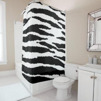 Ikat Farbe des Schwarzweiss-Zebra-Tierdruck- DIY Duschvorhang