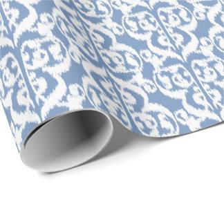 Ikat maurischer Damast - Himmelblau und -WEISS Geschenkpapier