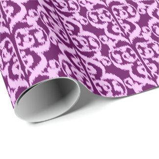 Ikat maurischer Damast - lila und Orchidee Geschenkpapier