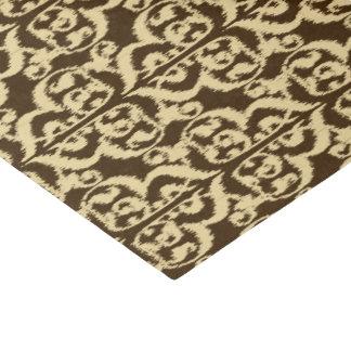 Ikat maurischer Damast - schokoladenbraun und tan Seidenpapier