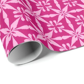 Ikat Sternchen-Vereinbarung - Fuchsien-Rosa Geschenkpapier