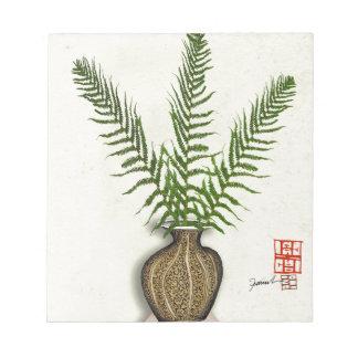 ikebana 18 durch tony fernandes notizblock
