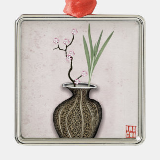 Ikebana 2 durch tony fernandes silbernes ornament