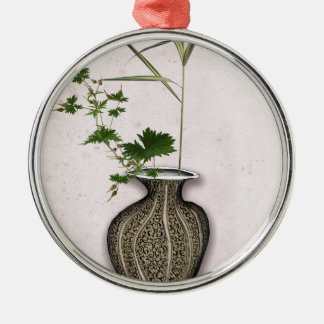 Ikebana 5 durch tony fernandes rundes silberfarbenes ornament