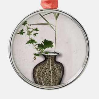 Ikebana 5 durch tony fernandes silbernes ornament